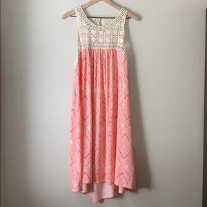 Pink and cream dress